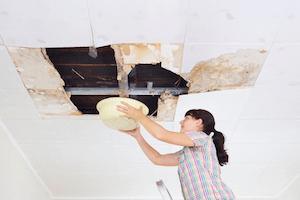leaking flat roof